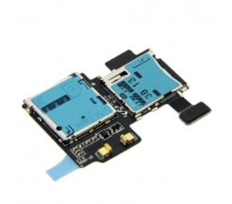 Flex Lector Tarjeta Sim Micro SD para Samsung Galaxy S4 I9505 REV0.5