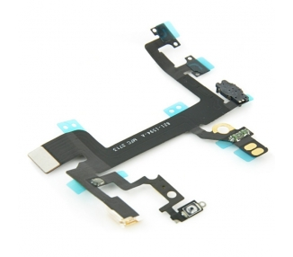 CABLE FLEX BOTON VOLUMEN ENCENDIDO SILENCIO MICROFONO POWER PARA IPHONE 5S