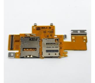 Flex Lector Tarjeta Sim Micro SD para Sony Xperia Tablet Z SGP311 SGP312 SGP321