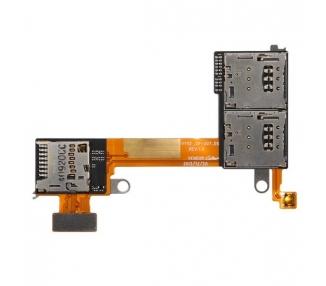 Flex Lector Tarjeta Conector Micro SD para Sony Xperia M2 D2303 D2305 D2306