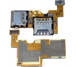 FLEX LECTOR SIM MEMORIA MICRO SD PARA LG OPTIMUS F6 D505. SIM CARD READER