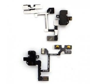 FLEX AUDIO JACK + BOTONES VOLUMEN IPHONE 4 NEGRO