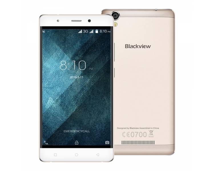 Blackview A8 Android 5.1 Quad Core 8GB GPS 3G Dual Sim Goud Goud Blackview - 1