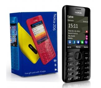 Nokia Asha 206   Black   64MB   Refurbished   Grade A+