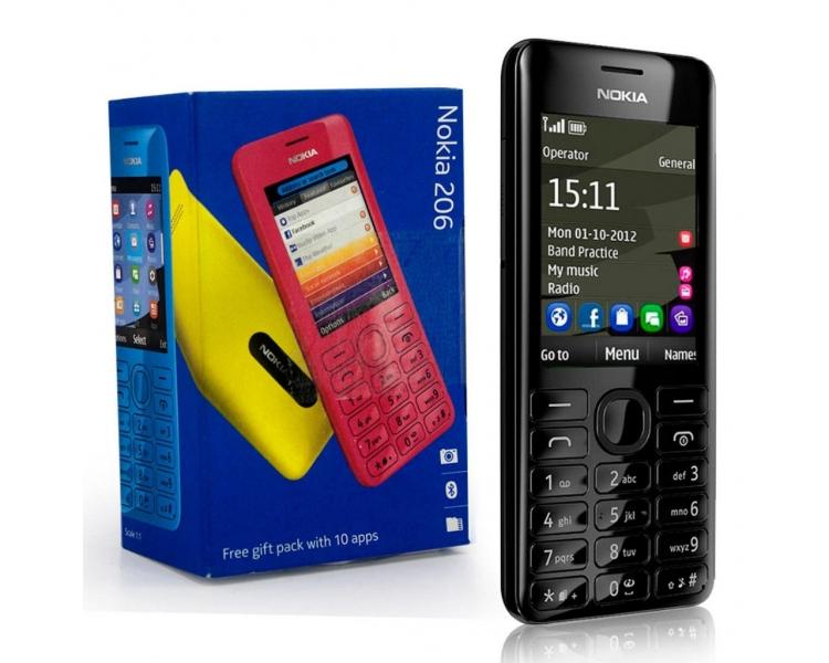 Nokia Asha 206 2060 - Negro - Nokia - 1