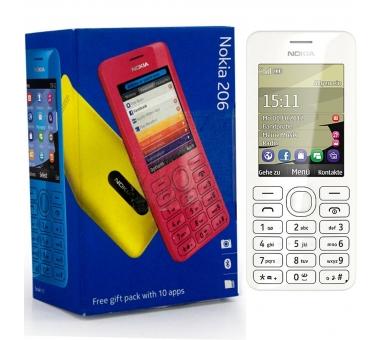 Nokia Asha 206 | White | 64MB | Refurbished | Grade A+ Nokia - 1