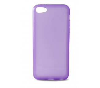 iPhone 5C Case - TPU - Semi Transparent - Color Purple