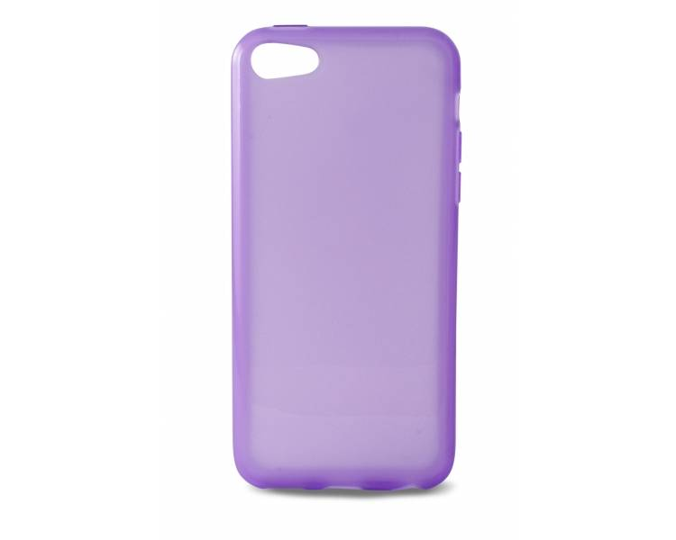 GEL TPU Case Cover voor Iphone 5C Mat Semi Transparant Ultradun paars  - 1