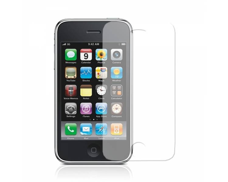 2X SCREEN PROTECTOR PROTECTIVE FOLIE FILM voor IPHONE 3 LCD-SCHERM  - 1