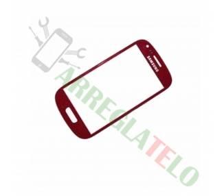 Cristal Pantalla Tactil Digitalizador para Samsung Galaxy S4 Mini Rojo  - 1