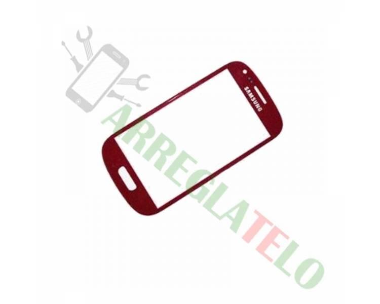 Touchscreen Digitizer Glas voor Samsung Galaxy S4 Mini Rood  - 1