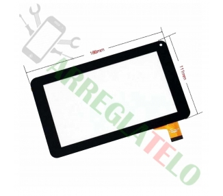 "Touch Screen Digitizer Digitaliazdor for Tableta Prixton T7005 * Salty 7 Black"""