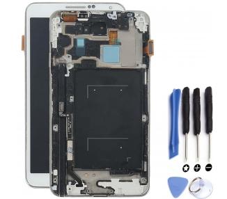 Pantalla Original Con Marco para Samsung Galaxy Note 4 Blanco Desmontaje  - 1
