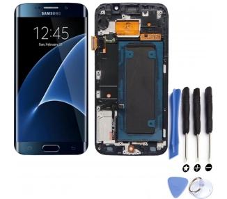 Pantalla Original Completa con Marco para Samsung Galaxy S6 Edge Azul Desmontaje  - 1