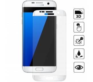 Protector de pantalla de Cristal Templado para Samsung Galaxy S7 Edge Blanco  - 1