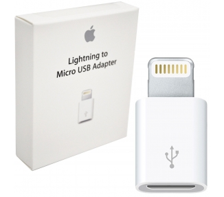 Adaptador Original Apple MD820ZM/A Micro USB a Lightning Reacondicionado