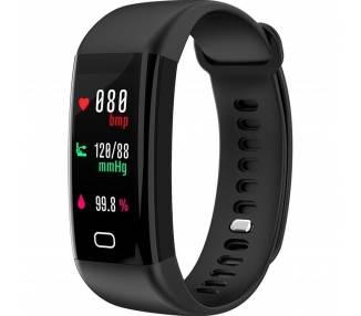 Sportarmband Stappenteller Horloge Cardio Pulsometer Alarm F07 Zwemmen