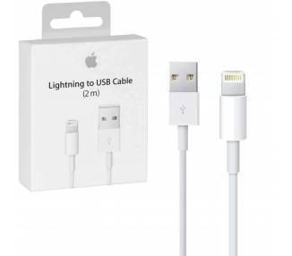 Cable USB Original para iPhone 11 SE XS X 8 7 5S XR 6 6S Plus Pro Max 2M Apple - 1