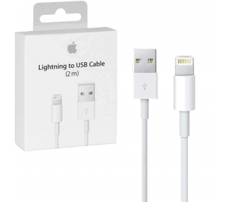 Cable USB Original para iPhone 5 6S 6 7 8 Plus de 2M