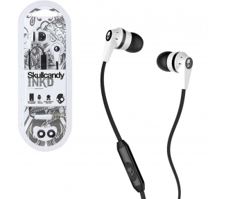 Słuchawki Skullcandy ink'D 2.0 - Inkd 2.0 z mikrofonem w kolorze białym  - 1