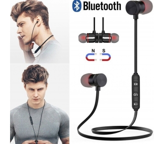 Auriculares Bluetooth 4.1 Inalámbricos Magnético Micrófono Cascos Deportivos