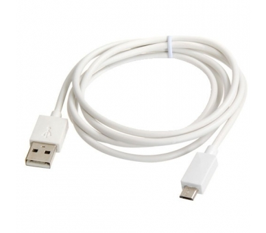 Cable Micro usb color blanco para Samsung Sony Nokia HTC LG Blackberry Huawei - 2