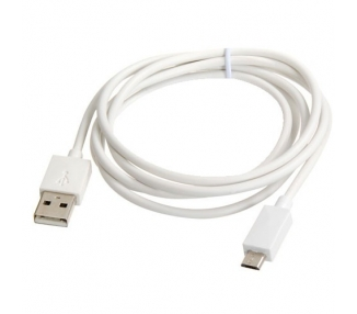 Cable micro usb color blanco para Samsung Sony Nokia HTC LG Blackberry Huawei ARREGLATELO - 2