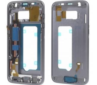 Carcasa Marco para Samsung Galaxy S7 SM-G930F Chasis Intermedio Gris  - 1