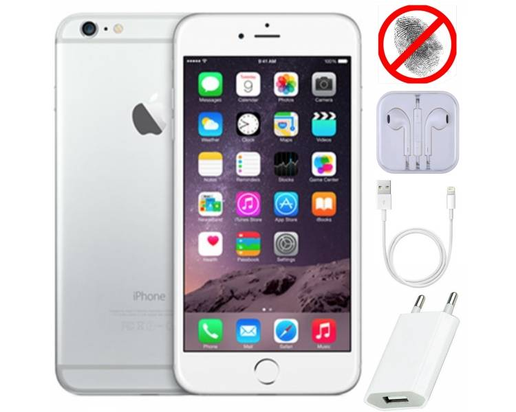 Apple iPhone 6 64Gb - Blanco - Libre - Sin Touch iD - Grado A - 1