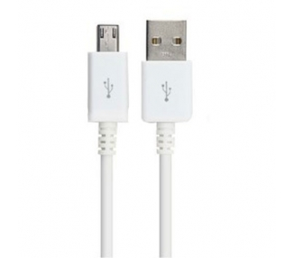 Cable Micro usb color blanco para Samsung Sony Nokia HTC LG Blackberry Huawei