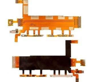 Cable Flex Principal Botones Laterales Microfono Vibrador para Sony Z3 4G D6633
