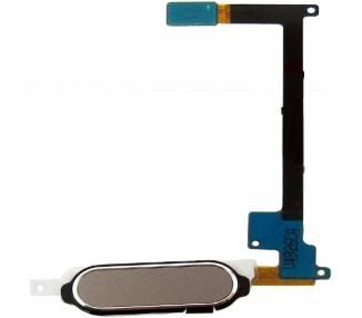 Flex Boton Home Huella Dactilar para Samsung Galaxy Note 4 Dorado  - 1