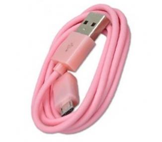 Cable micro usb color Rosa para Samsung Sony Nokia HTC LG Blackberry Huawei ARREGLATELO - 4