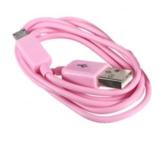 Cable micro usb color Rosa para Samsung Sony Nokia HTC LG Blackberry Huawei ARREGLATELO - 6