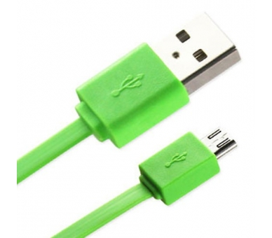 Cable Micro usb color Verde para Samsung Sony Nokia HTC LG Blackberry Huawei - 1