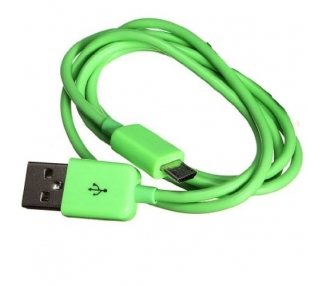 Cable micro usb color Verde para Samsung Sony Nokia HTC LG Blackberry Huawei ARREGLATELO - 2