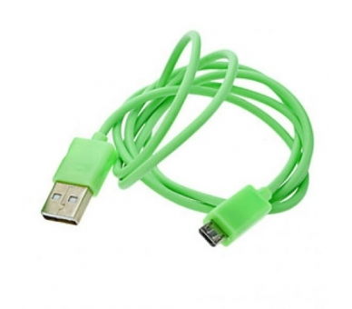 Cable Micro usb color Verde para Samsung Sony Nokia HTC LG Blackberry Huawei - 3