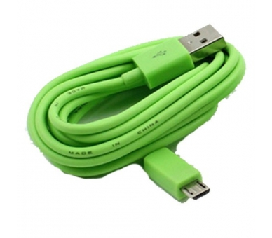 Cable Micro usb color Verde para Samsung Sony Nokia HTC LG Blackberry Huawei - 6