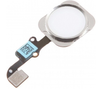 Flex + Boton Home para iPhone 6S Plata Blanco  - 1