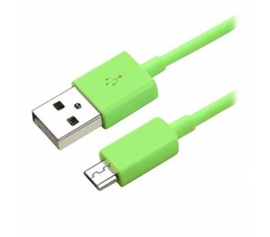 Cable Micro usb color Verde para Samsung Sony Nokia HTC LG Blackberry Huawei - 7