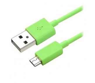 Cable micro usb color Verde para Samsung Sony Nokia HTC LG Blackberry Huawei ARREGLATELO - 7