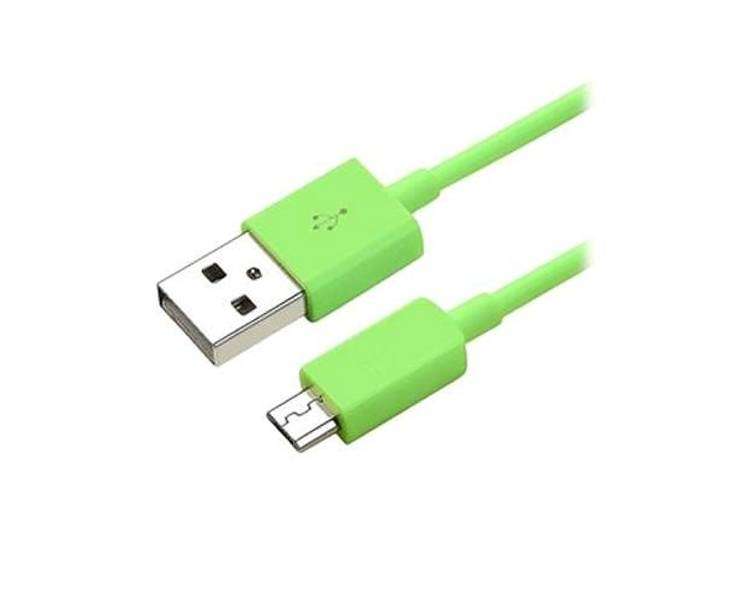 Micro USB Cable - Green Color  - 7