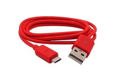 Cable micro usb color Rojo para Samsung Sony Nokia HTC LG Blackberry Huawei ARREGLATELO - 1