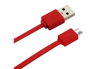 Cable micro usb color Rojo para Samsung Sony Nokia HTC LG Blackberry Huawei ARREGLATELO - 4