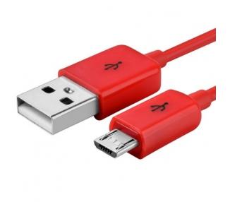 Cable micro usb color Rojo para Samsung Sony Nokia HTC LG Blackberry Huawei ARREGLATELO - 6