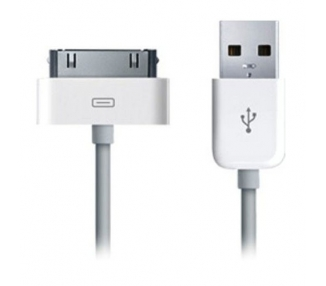 Cable usb carga cargador datos sync BLANCO para iPhone Ipod Ipad 3 3G 3GS 4 4S  - 2