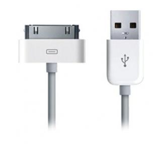Cable usb carga cargador datos sync BLANCO para iPhone Ipod Ipad 3 3G 3GS 4 4S ARREGLATELO - 2
