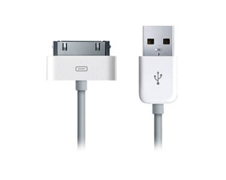 Cable usb carga cargador datos sync BLANCO para iPhone Ipod Ipad 3 3G 3GS 4 4S ARREGLATELO - 2