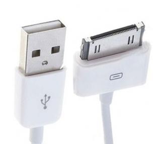 Cable usb carga cargador datos sync BLANCO para iPhone Ipod Ipad 3 3G 3GS 4 4S ARREGLATELO - 3