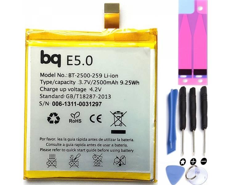 Compatibele batterij voor BQ Aquaris E5 / E5 HD / E5 FHD / 2500mA  - 1